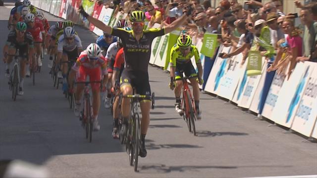 Luka Mezgec pounces to claim Stage 2