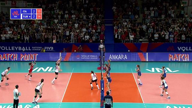 Volleyball Natiosn League: Italia- Turchia 3-2, gli highlights