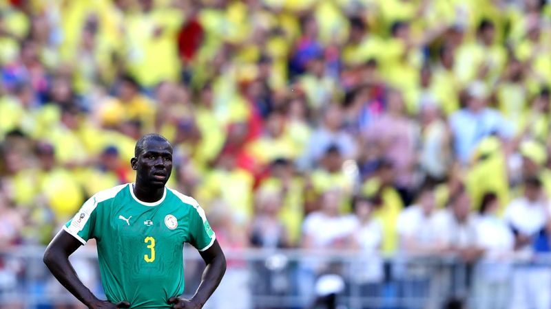 Kalidou Koulibaly of Senegal looks on during the 2018 FIFA World Cup Russia group H match between Senegal and Colombia at Samara Arena on June 28, 2018 in Samara, Russia.