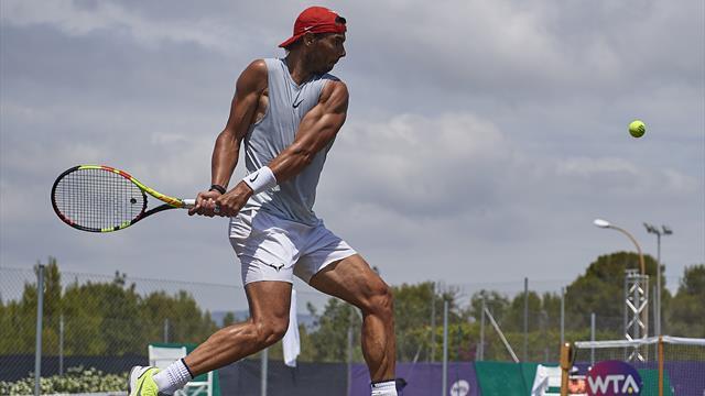 Nadal completa su quinta sesión de la semana con la hierba de Wimbledon en el horizonte