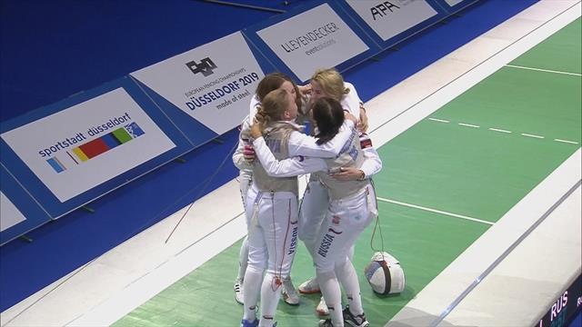 European Fencing Championship: Larisa Korobeynikova takes gold