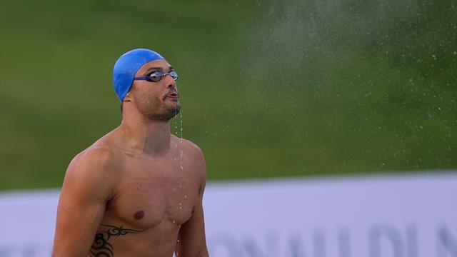La victoire de Florent Manaudou sur 50m petit bassin