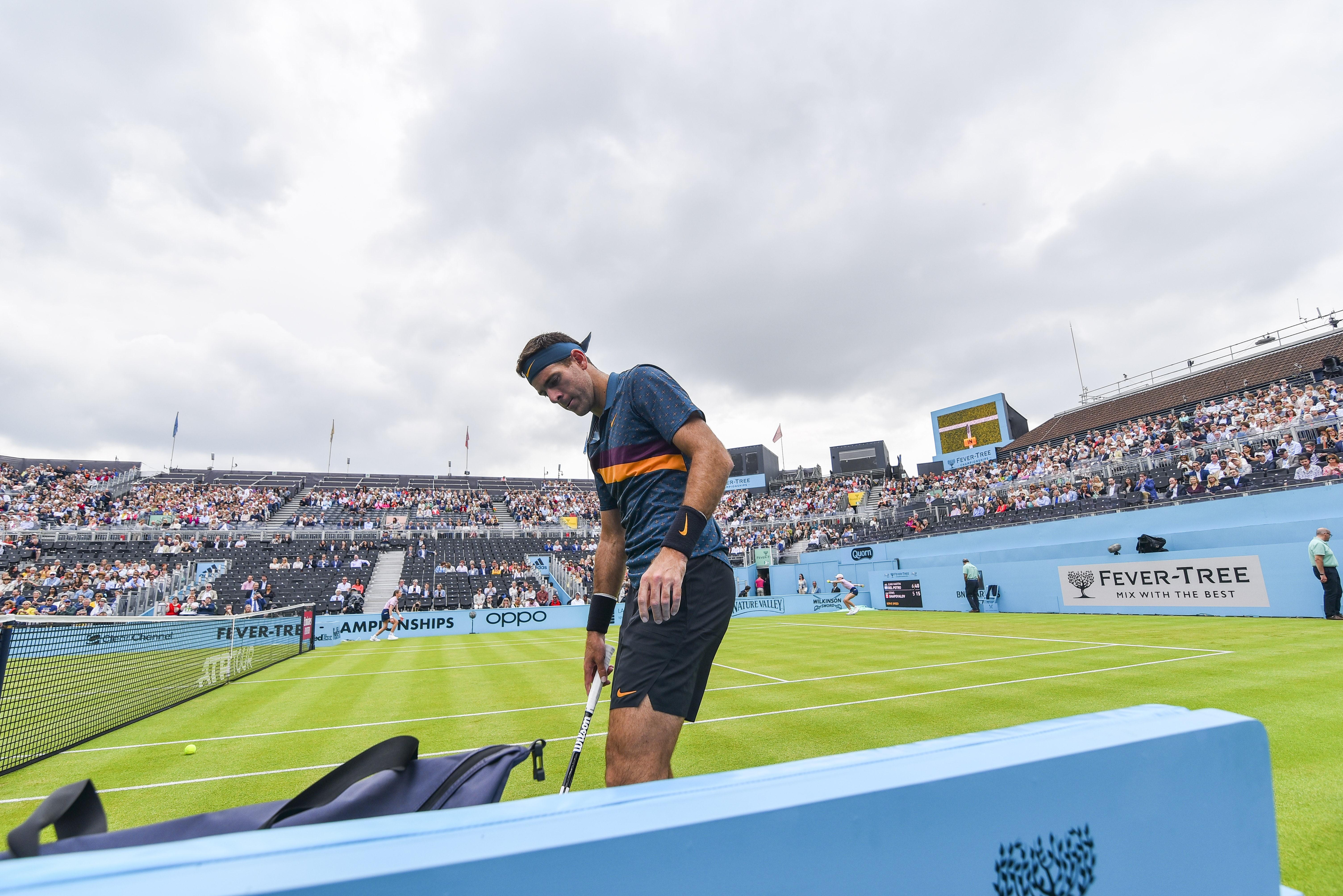 Juan Martin del Potro lors du tournoi du Queen's 2019