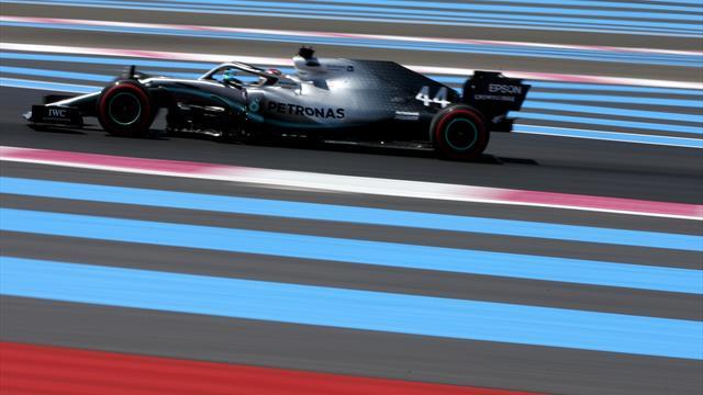Hamilton on pole in France