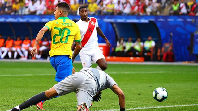WATCH: Firmino showboats with no-look goal against Peru