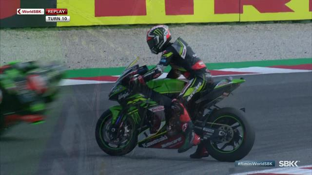 'I've never seen anything like that before!' - Rea's bizarre crash in Misano