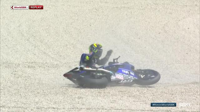 Sandro Cortese crashes in Superpole race