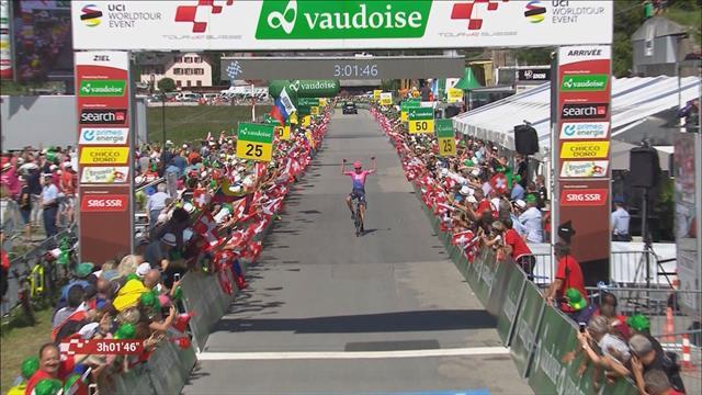 Hugh Carthy surges to breakaway win in final stage of Tour de Suisse