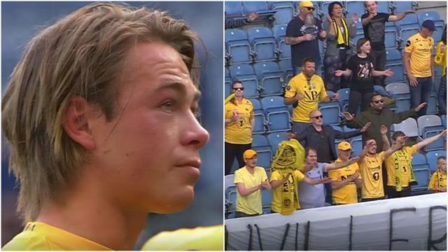 Rørende scener i Stavanger – Glimt-fansen stod igjen og hyllet Patrick Berg