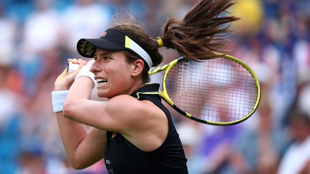 Konta up and running in Eastbourne