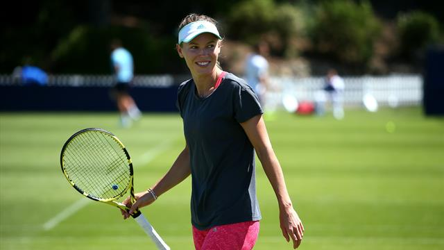 Wozniacki begins Eastbourne defence with win