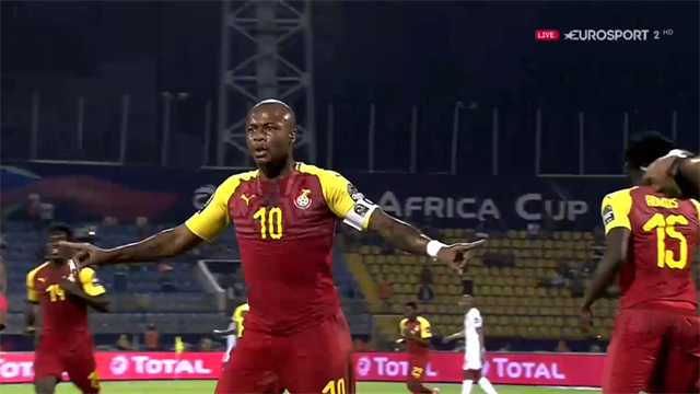 'Stunning from Ghana's most iconic player!' - Ayew slams in equaliser