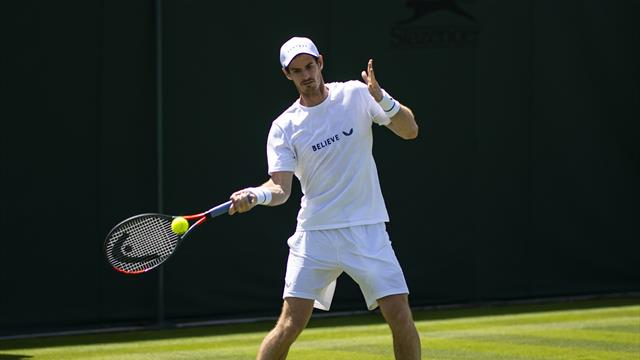WATCH - Andy Murray practices ahead of doubles at Wimbledon