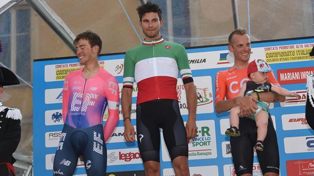 Ciclismo: Ganna campione italiano crono