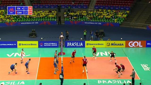Volleyball Nations League: Italia-Canada 1-3, gli highlights