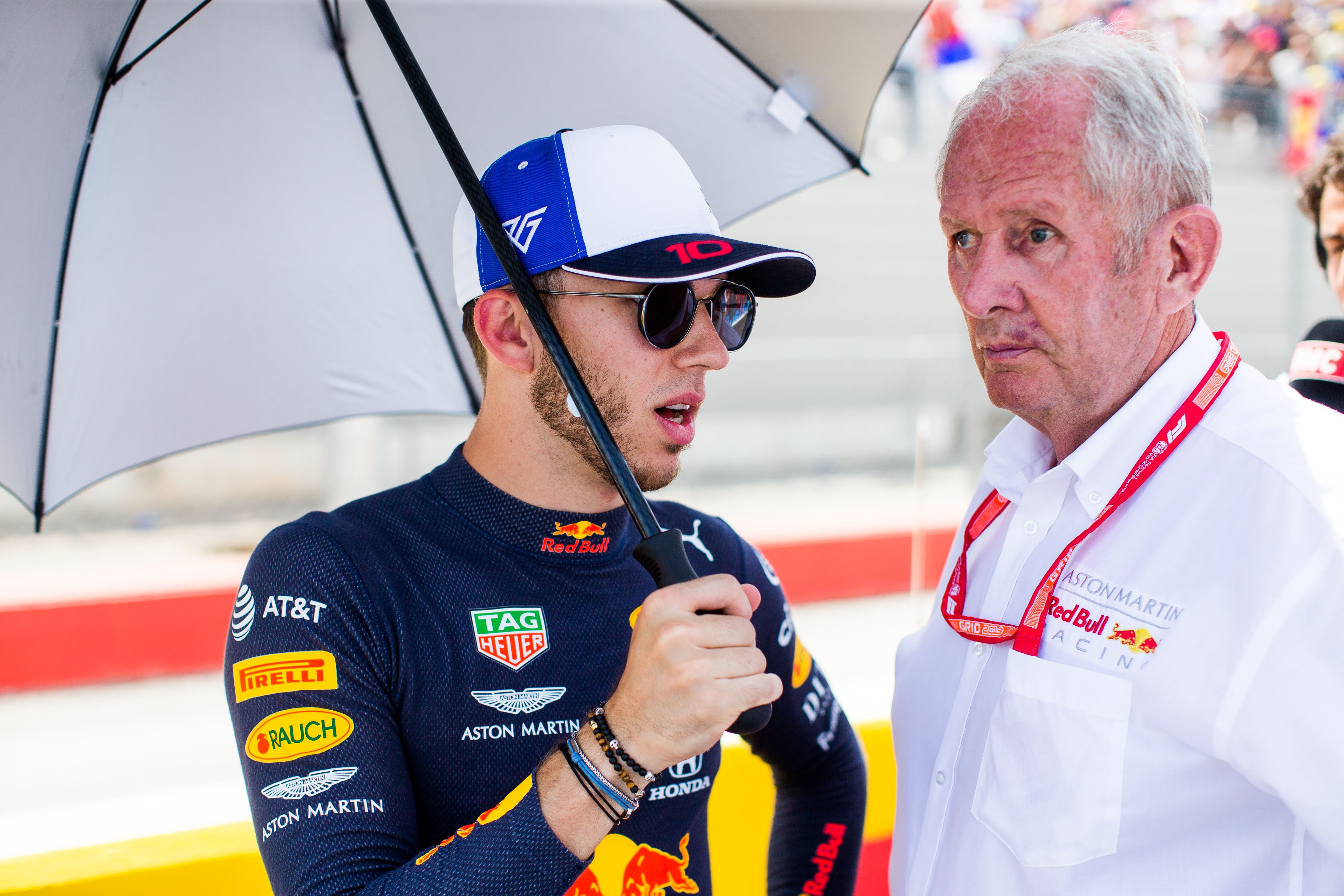 Pierre Gasly et Helmut Marko (Red Bull) au Grand Prix de France 2019