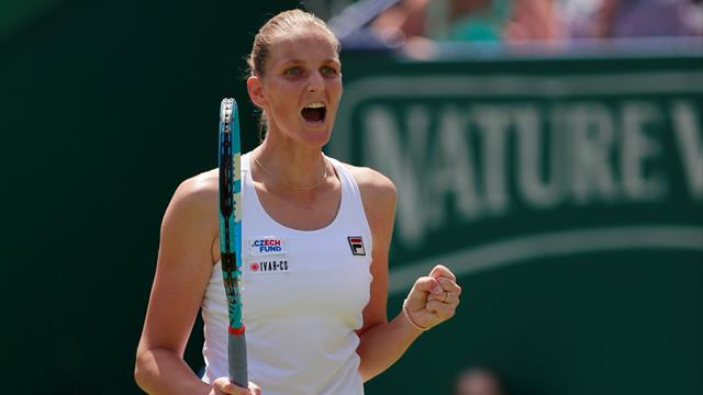 Pliskova thrashes Kerber in Eastboure final