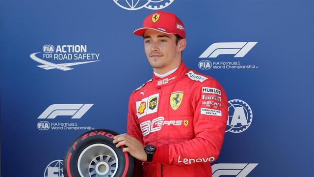 Leclerc beats Hamilton to pole in Austria