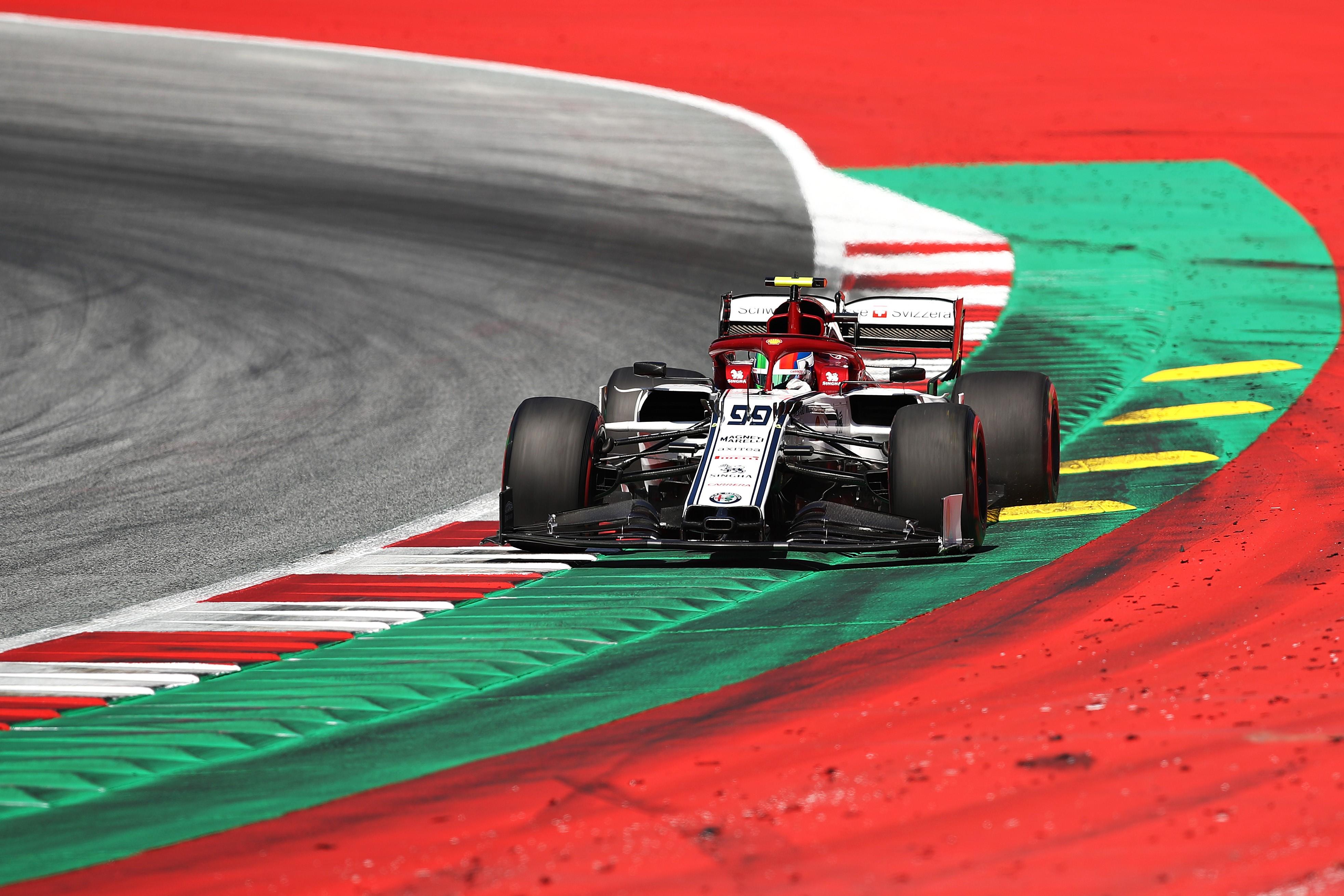 Antonio Giovinazzi (Alfa Romeo) au Grand Prix d'Autriche 2019