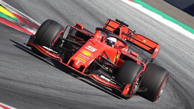 Ferrari, le fail continue : Vettel est rentré aux stands mais ses pneus n'étaient pas prêts...