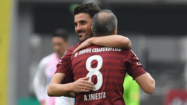 Un doublé chacun : Iniesta et Villa se font plaisir au Japon