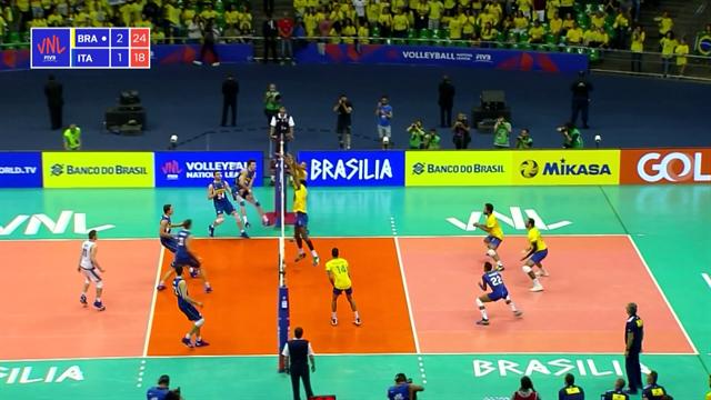 Volleyball Nations League: Italia-Brasile 1-3, gli highlights
