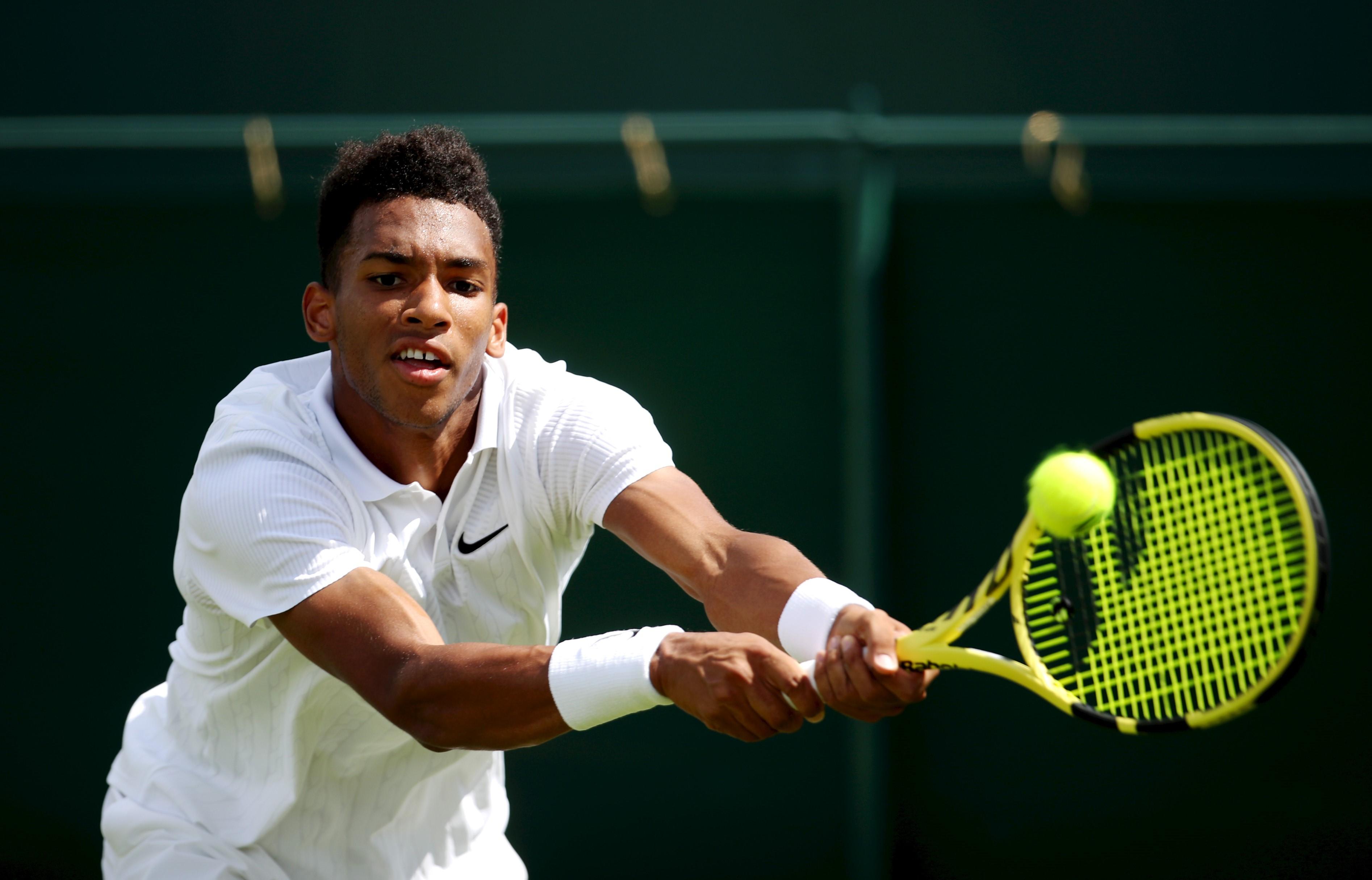 Félix Auger-Aliassime à Wimbledon en 2019