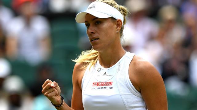 Defending champion Kerber wins on Wimbledon return