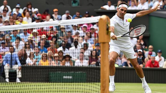 Un set pour se rôder puis Federer a déroulé