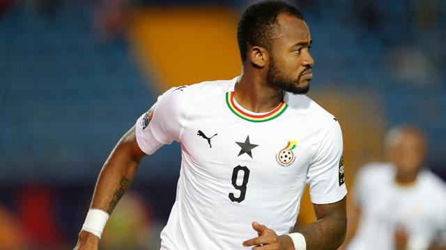 Ayew opens scoring for Ghana with lovely stepover and finish