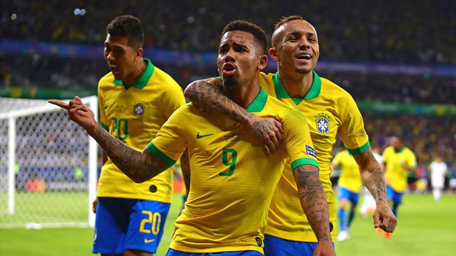 Jesus and Firmino goals see Brazil past Argentina and into final