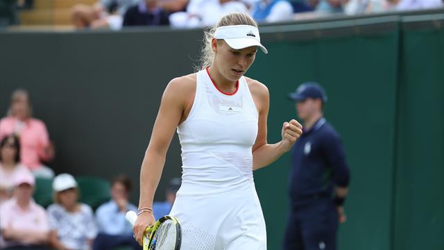 Wozniacki gains revenge over Kudermetova