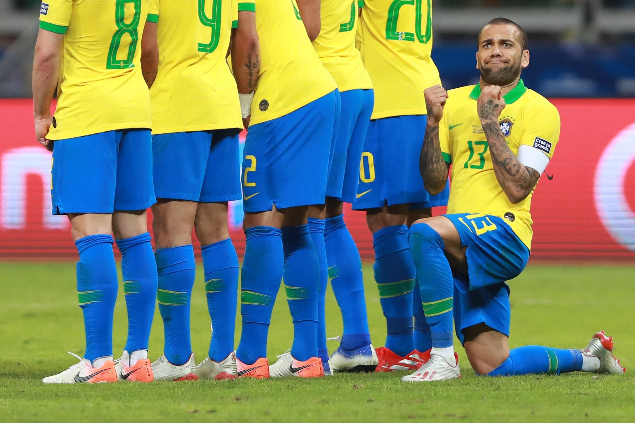 Dani Alves avec le Brésil lors de la Copa America 2019