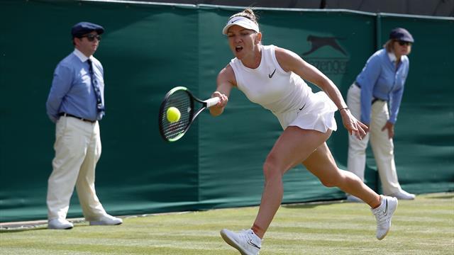 Halep sees off Burzarnescu to continue Wimbledon run