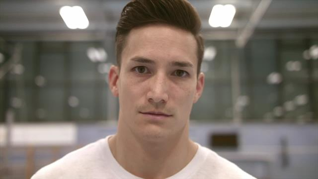 Home of the Olympics : Flag & Familiy with Marcel Nguyen