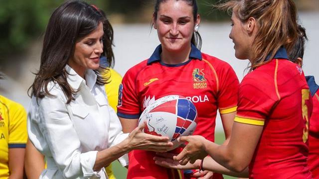 La Reina apoya a la selección femenina de rugby 7 en su camino hacia Tokio