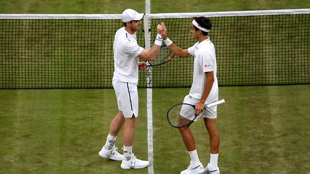 Engteco_sport Tempo.co: Wimbledon; Andy Murray Makes Winning Doubles Return