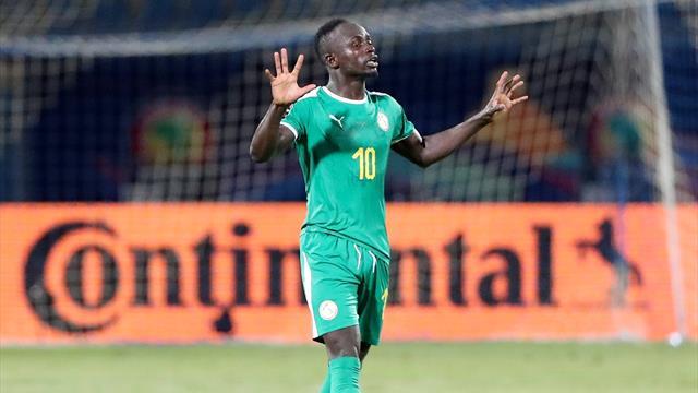 Sadio Mane opens the scoring for Senegal