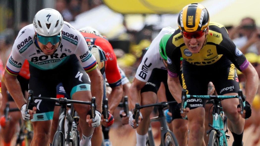 ddffbfc14bb Tour de France 2019 news: Mike Teunissen pips Peter Sagan to yellow jersey  on Stage 1 - Tour de France 2019 - Cycling - Eurosport UK