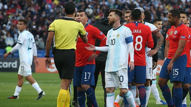 Vidal backs Messi over Copa America referee criticism