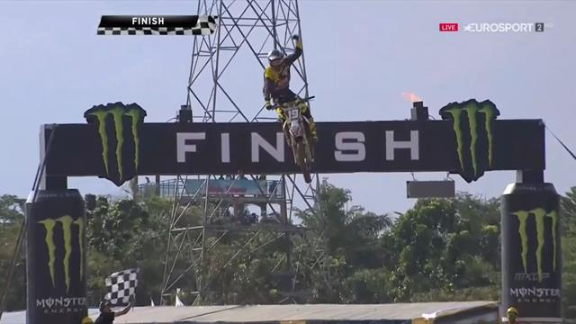 Motocross, GP Indonesia: Olsen se apunta la segunda manga y Prado la victoria final