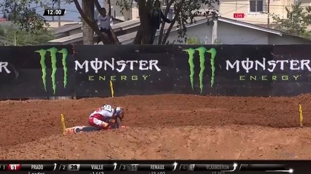 Motocross, GP Indonesia: Caída de Jorge Prado en la primera manga