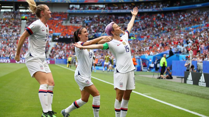 Megan Rapinoe, Alex Morgan et Samantha Mewis (Team Usa)