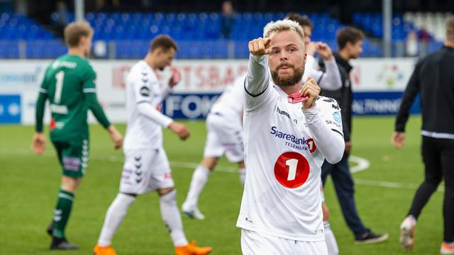 Sander Svendsen på vei til Odense