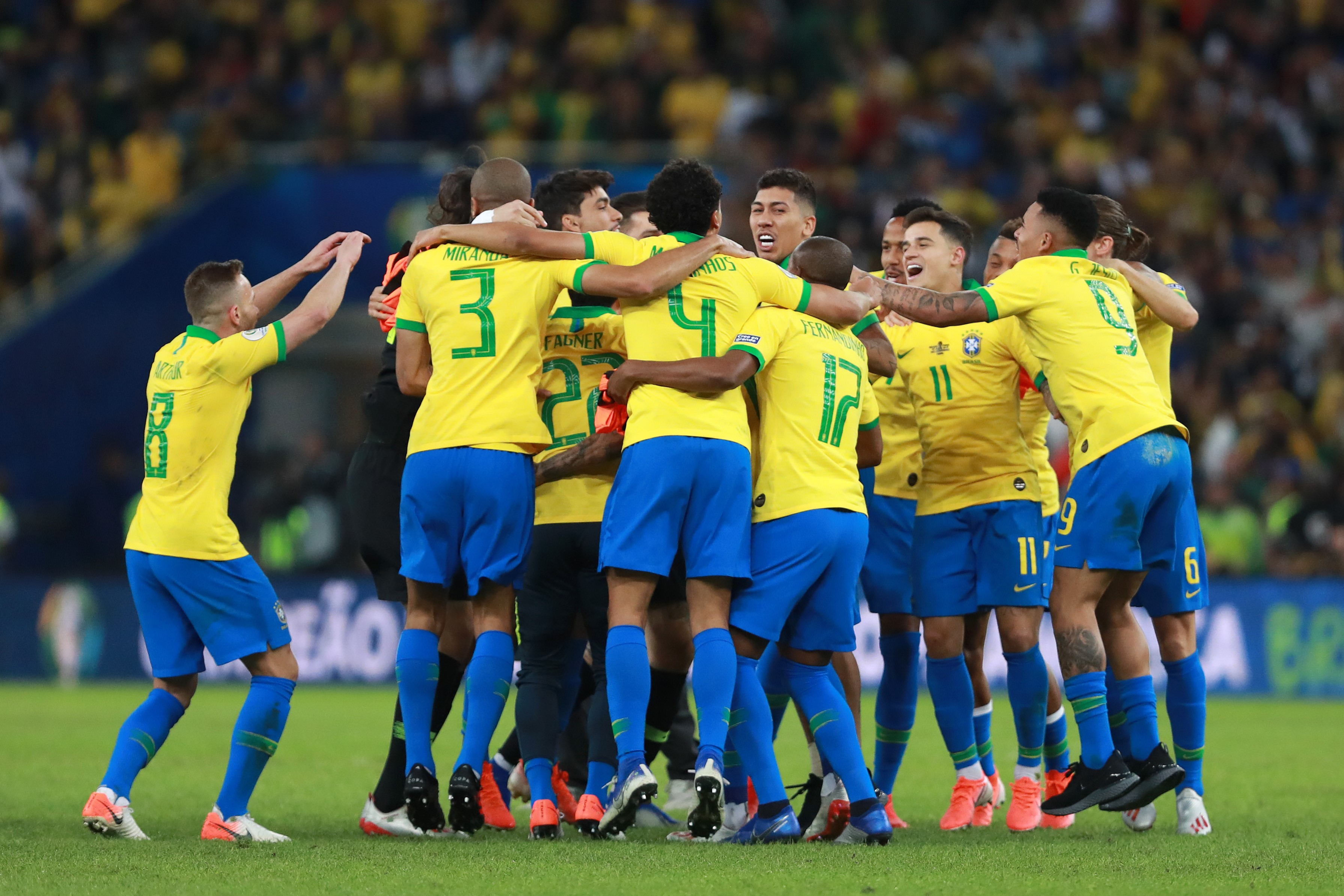 La joie des Brésiliens après leur sacre en Copa America