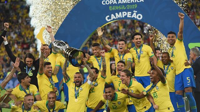 Brazil survive Jesus dismissal to win Copa America