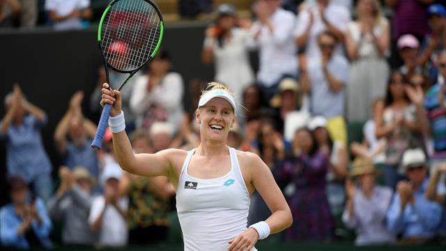 Barty's winning streak snapped as Riske advances at Wimbledon