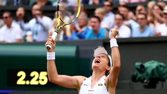 Konta digs deep to beat two-time champion Kvitova