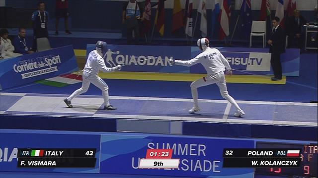 Universiade: l'Italia maschile della spada è bronzo a squadre