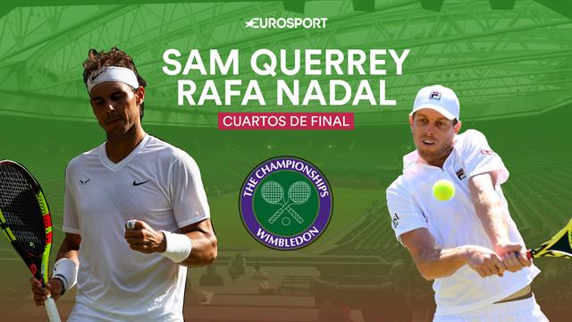 Wimbledon 2019, Querrey-Nadal: el mejor sacador del torneo antes de la semifinales